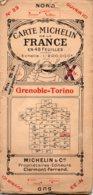 Carte Michelin Années 20 Numéro 33 ,Grenoble-Torino,bon état. - Roadmaps