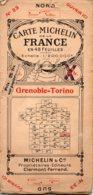 Carte Michelin Années 20 Numéro 33 ,Grenoble-Torino,bon état. - Carte Stradali
