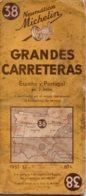 Carte Michelin Espagnol Années 51 52 Numéro 38, Nord De L'Espagne Portugal ,bon état. - Roadmaps