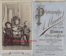 CDV Bretagne-beaux Enfants Avec Jouets-poupée-fusil-photo A. Mancel à BINIC-bel état - Photographs