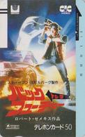 TC Ancienne Japon / 110-6856 - CINEMA - BACK TO THE FUTURE ** MICHAEL J. FOX  - MOVIE Japan Front Bar Phonecard - 11243 - Cinéma