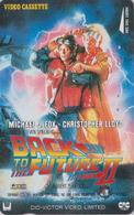 Télécarte Japon / 110-011 - CINEMA - BACK TO THE FUTURE ** MICHAEL J. FOX  - MOVIE Japan Phonecard - KINO TK - 11244 - Cinéma
