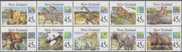 New Zealand 1366-1375 Zehnerblock (complete Issue) Unmounted Mint / Never Hinged 1994 Mammals Out All World - Unused Stamps