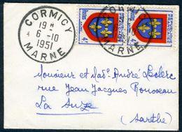 Enveloppe 8,5x6cm - N°838 (YT) Anjou - Enveloppes