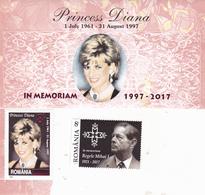 DAIANA AND KING MIHAI  MNH ROMANIA. - 1948-.... Républiques