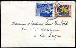 Enveloppe 10x6cm - Armoiries Franche-Comté N°903 (YT) - Enveloppes