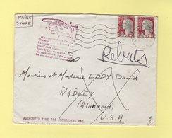 Marianne De Decaris - Destination USA - Lettre Tombee En Rebut - Retour En France - 1964 - Marcophilie (Lettres)
