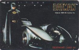 Télécarte Japon / 110-74011 - CINEMA - BATMAN & Voiture BATMOBILE Car - MOVIE Japan Phonecard - KINO Telefonkarte  11249 - Cinéma