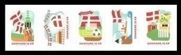 Denmark 2019 Mih. 1963/67 State Flag. Christiansborg Tower. Cake. Football. Ship Dannebrog. Garden MNH ** - Unused Stamps