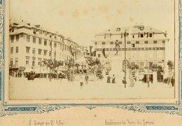 1898 Fotografia PRAÇA DUQUE TERCEIRA Cais Do Sodre GRAND HOTEL Centenário Vasco Da Gama. Old Photo (Lisboa) PORTUGAL - Photos