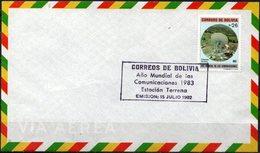 Bolivia 1982. CEFIBOL 1165s Año Mundial De Las Comunicaciones 1983. Estación Terrena. - Bolivie