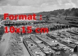 Reproduction D'une Photographie Ancienne D'une Vue Du Barrage De Péniches à Conflans-Sainte-Honorine En 1933 - Reproductions