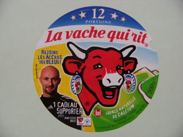 """Etiquette Fromage Fondu - Vache Qui Rit - Bel 12 Portions Pub """"F.F.F Les Bleus"""" Avec Barthez  A Voir ! - Quesos"""