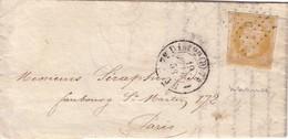 PARIS - N°13A - OBLITERATION LOSANGE D + CACHET TYPE 1510 - SANS TEXTE. - Marcophilie (Lettres)