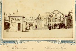 1898 Fotografia FEIRA FRANCA De LISBOA Centenário Vasco Da Gama ROTUNDA Av.Liberdade. Old Photo PORTUGAL - Photos