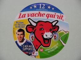 """Etiquette Fromage Fondu - Vache Qui Rit - Bel 12 Portions Pub """"F.F.F Les Bleus"""" Avec Zidane  A Voir ! - Quesos"""