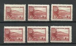 LETTLAND Latvia 1938 Michel 264 MNH Incl. WM & Perforation Types - Lettland