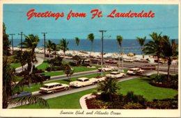 Florida Fort Lauderdale Greetings Sunrise Boulevard and Atlantic