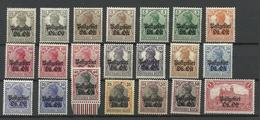 Dt. Okkupation Ober-Ost 1916/18 Complete Set Incl. Different Printings * - Besetzungen 1914-18