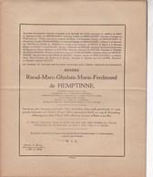 40-45 ZEVERGEM Burgemeester Raoul De HEMPTINNE Gand 1884 - Camp De Flossenburg Début Avril 1945 Prisonnier Politique - Décès