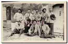 CARTE PHOTO Militaria Chasseurs Alpins - Uniforms
