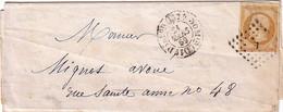 PARIS - N°13A - OBLITERATION LOSANGE E + CACHET TYPE 1510 - AVEC TEXTE. - Marcophilie (Lettres)