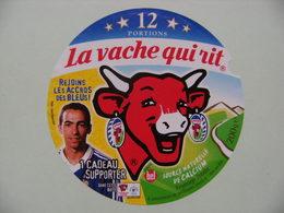 """Etiquette Fromage Fondu - Vache Qui Rit - Bel 12 Portions Pub """"F.F.F Les Bleus"""" Avec Djorkaeff  A Voir ! - Quesos"""