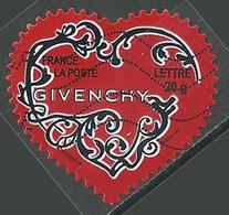 France YT N°3998 Coeur Givenchy (autocollant) Oblitéré ° - France