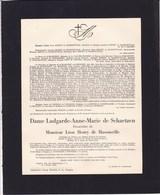 TONGRES Ludgarde De SCHAETZEN Veuve Léon HENRY De HASSONVILLE  1884-1951 Faire-part Décès - Décès