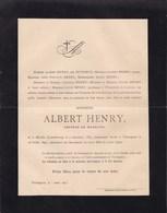 MARCHE TAINTEGNIES Albert HENRY Docteur En Médecine 1837-1895 Famille DUTRIEUX - Décès