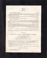 Brée GAND Joseph Jean HERMANS De HEEL 1874-1947 Faire-part Mortuaire - Décès