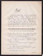 SAINT-JOSSE-TEN-NOODE Messire Philippe HERRY Général Honoraire Veuf ANNEZ De ZILLEBEKE 74 Ans 1871 Famille BEECKMANS - Décès