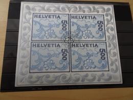 Schweiz 1726 Kleinbogen Gestempelt Stickerei Kleinbogen (9939) - Blocs & Feuillets