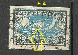 ESTLAND Estonia 1920 Michel 12 Y Error Abart Variety E: 4 O - Estland