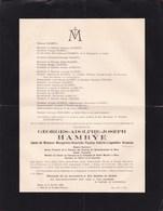 PATURAGES MONS Georges HAMBYE époux HEUSEUX Notaire 1872-1926 Fabrique D'église Sainte Waudru - Décès