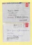 Marianne De Briat - Lot De Lettres Accidentees - Crash Post
