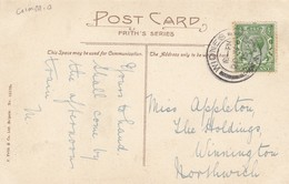 Postcard Genealogy Appleton The Holdings Winnington Northwich PU 1915 Kents Bank Card My Ref  B13013 - Genealogie