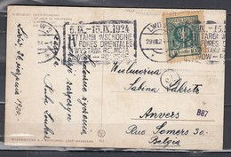 Postkaart Van Lwow Naar Anvers - 1919-1939 République