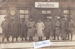 Foto Ignalino Ignalina Bahnhof Eisenbahn Deutsche Soldaten 1.Weltkrieg Ww1 14-18 - Lithuania