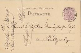 GERMANY 1886 Postcard With Cancellation SCHOPFHEIM To STUTTGART?BARGAIN.!! - Duitsland