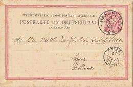 GERMANY 1884 Postcard With Cancellation HARZBURG / SNEEK.BARGAIN.!! - Duitsland