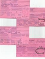 4 AR (Acknowledgment Of Receipt) Cards, 1980s, Useful Lot - 1953-.... Règne D'Elizabeth II