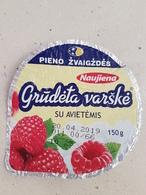 Lithuania Litauen Curd With Raspberries Top - Milk Tops (Milk Lids)
