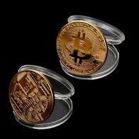 Monnaie Bitcoin Plaquée Or - Fictifs & Spécimens