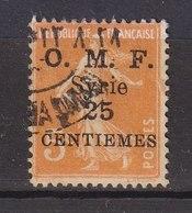 Colonies Françaises - SYRIE -  1922 - Timbre Oblitéré N° YT 85 - Prix Fixe Cote 2017 à 15% - Gebraucht