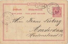 GERMANY 1897 Postcard With Cancellation ILMENAU / AMSTERDAM.BARGAIN.!! - Duitsland