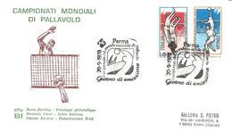 ITALIA - 1978 PARMA Campionato Mondiale Pallavolo Volley Ann. Fdc Serie Compl. Su Busta CFU BF - Pallavolo