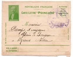 Carte-lettre Poincaré 1915 - Franchise Postale Militaire - Régiment Infanterie - Ed. Servel Avignon - Cartes De Franchise Militaire