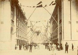 1898 Fotografia FEIRA FRANCA De LISBOA Centenário India / Vasco Da Gama RUA AUREA Do Ouro. Old Photo PORTUGAL - Photos