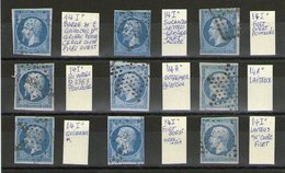 Lot De 9 N°14°_petites Variétés_ - 1853-1860 Napoleon III